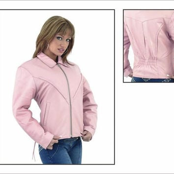 Handmade women light pink leather jacket, women light pink biker leather jacket, biker leather jackets, handmade vintage jackets