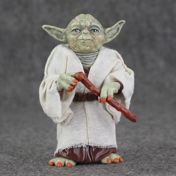 Star Wars Force Episode 1 2 3 4 5 12cm  Jedi Knight Master Yoda Action Figure Collection Toys Christmas Gift for Kids AT_72_6