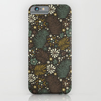 Mystical Forest (Greens) iPhone & iPod Case by Anna Deegan