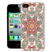 ChiChiC Iphone Case, i phone 4 4g 4s case,Iphone4 iphone4g iphone4s covers, plastic cases back cover skin protector,geometric green red mandala