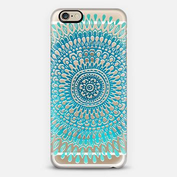 Radiate in Teal & Emerald on Clear iPhone 6 case by Tangerine- Tane | Casetify