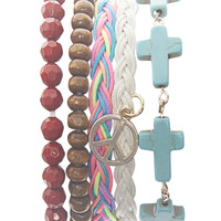 Cross Buddha Friendship Bracelet | Wet Seal