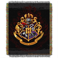 Harry Potter Exclusive Hogwarts Crest Tapestry Throw | WBshop.com | Warner Bros.