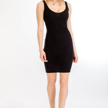 Ribbed Tank V-Cut Dress