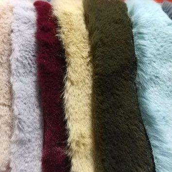 2yards Soft faux Rabbit Fabric Fur 10MM Hight Faux Fur like Rabbit fur High grade Faux fur fabric for winter coat 160cm width