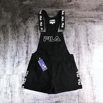 FILA Fashion Women Black Shortall Overall
