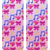 Dancer Emoji Ankle Socks