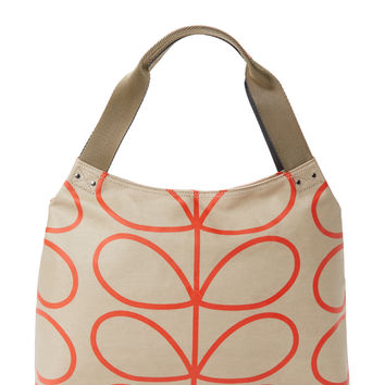 Orla Kiely Women's Classic Zip Shoulder Bag - Grey