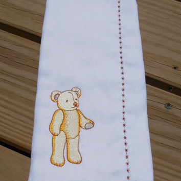 Burp Cloth, Baby Shower Gift- Embroidered Girl or Boy Burp Cloth
