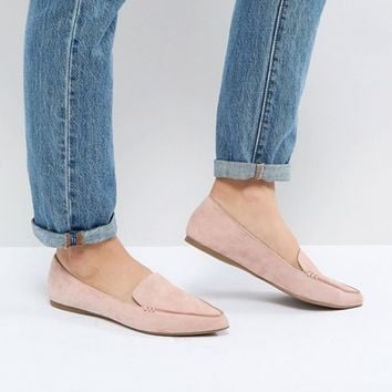 Steve Madden Feather Rose Suede Flat Shoes at asos.com