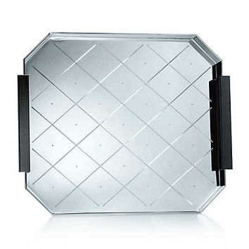 Tiffany & Co. - Ziegfeld Collection bar tray in sterling silver.