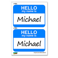 Michael Hello My Name Is - Sheet of 2 Stickers