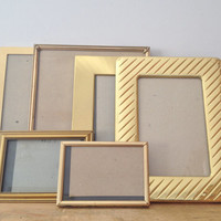 Vintage Brass & Gold Picture Frames - Lot of 6 - Wedding - Collection