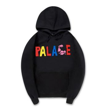 Palace Fashion Unisex Print Hoodies Sweater Top