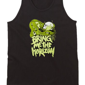 Bring Me The Horizon Girl Illustrations Mens Tank Top