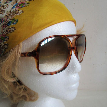 Vintage 70s Aviator Sunglasses Driver Sport Sunnies Mens 1970s Eyewear Japan 399