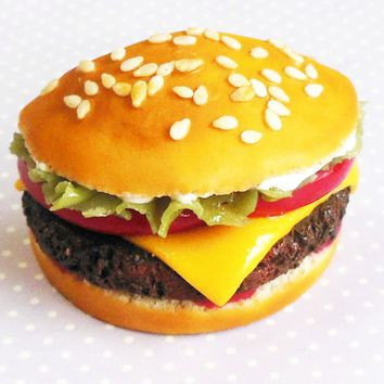 Cheeseburger Miniature Food Magnet
