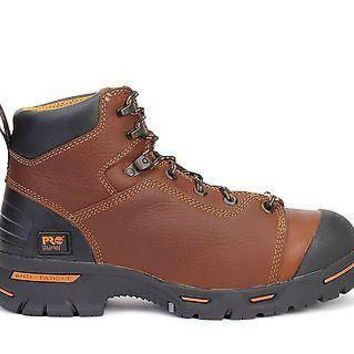 "Timberland Pro Mens 6"" Endurance Steel Toe WP Boots Brown 47591"