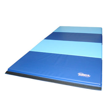 Blue & Light Blue Folding Gymnastics Mat by Nimble Sports