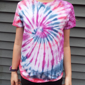 Colorful Tie Dye Swirl Shirt, Unisex Adult Small TieDye Tee, Hippie Tshirt, Boho Apparel, Teen Gift, Retro Shirt, 60s Party, Teen girl