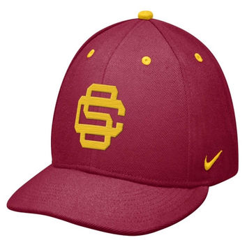 Nike USC Trojans Crimson True Authentic Baseball Fitted Hat