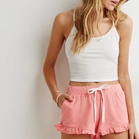 Ruffle Drawstring Shorts