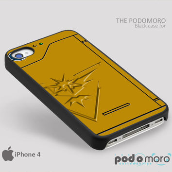 Pokedex Instinct Team Yellow for iPhone 4/4S, iPhone 5/5S, iPhone 5c, iPhone 6, iPhone 6 Plus, iPod 4, iPod 5, Samsung Galaxy S3, Galaxy S4, Galaxy S5, Galaxy S6, Samsung Galaxy Note 3, Galaxy Note 4, Phone Case