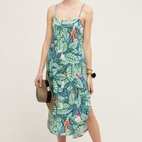 Mara Hoffman Tropics Slip Dress in Blue Motif Size: