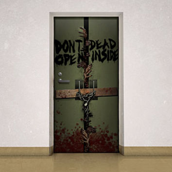 Walking Dead Dead Inside Door Cling