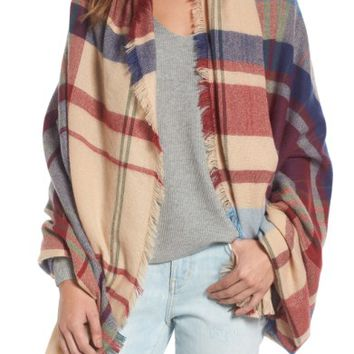 Treasure & Bond Heritage Plaid Blanket Wrap | Nordstrom
