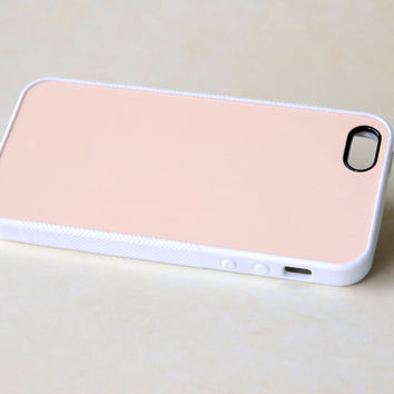 Solid Peach Pastel Minimalist Case for iPhone + DIY