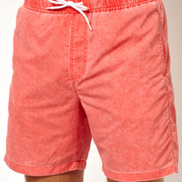 ASOS | ASOS Swim Shorts With Acid Wash at ASOS