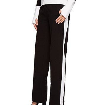KAMALIKULTURE by Norma Kamali Side Stripe Boyfriend Sweatpants