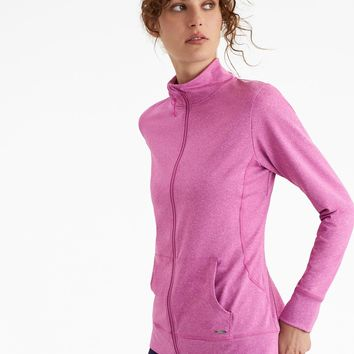 Viva PINK MARL Active Zip Up Sweatshirt | Joules US