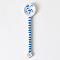 Cat Spoon Striped Cobalt