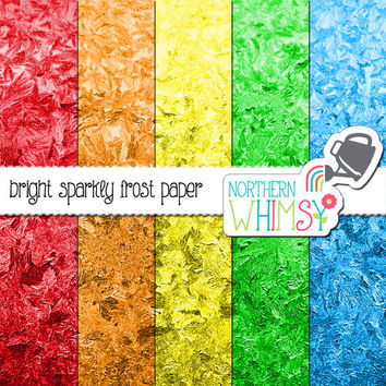 Glitter Frost Digital Paper Pack – bright photographic frost images for stock use, scrapbooking, websites, etc – instant download – CU OK