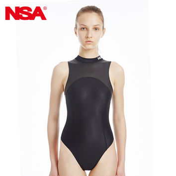 NSA new Triangle conjoined Water polo women's bathing suit Cultivate one's morality show thin waterproof  professional swimwear