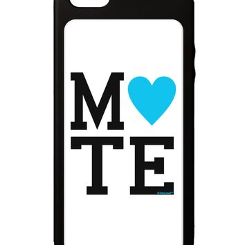 Matching Soulmate Design - Mate - Blue iPhone 5C Grip Case  by TooLoud