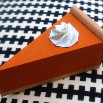 Pumpkin Pie  Paper Gift Box by luluslittleshop on Etsy