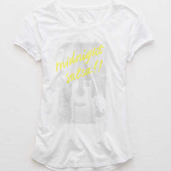 Aerie Real Soft® Graphic Tee, Sparkle White