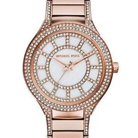 ONETOW Michael Kors Ladies Kerry Glitz MOP Dial Rosegold Stainless Steel Watch MK3313