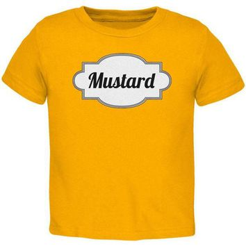 PEAPGQ9 Halloween Mustard Costume Gold Toddler T-Shirt
