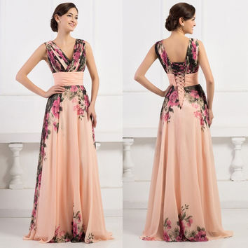 Grace Karin Long Wedding Formal Evening Cocktail Ball Gown Party Prom Bridesmaid Dress = 1931767236