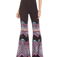 Copper Key Geometric Chevron Palazzo Pants | Dillards