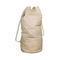 College Over-the-Shoulder Canvas FLAX Laundry Bag Dorm Stuff Items For College Students Laundry Essentials For College