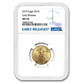2019 1/4 oz Gold American Eagle MS-70 NGC (Early Releases)