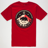 Cali's Finest Northern Light Mens T-Shirt Cardinal  In Sizes