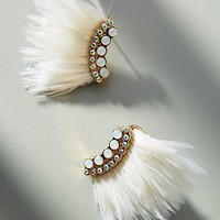 Mini Luxe Madeline Feather Post Earrings