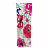 """Crystal Walen """"Mona Brush Stroke"""" - Floral Painting Decorative Sheer Curtain"""