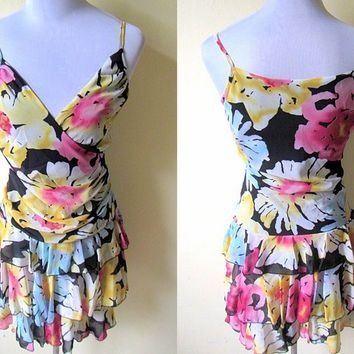 Spring / Summer Sale: floral layered dress (small)